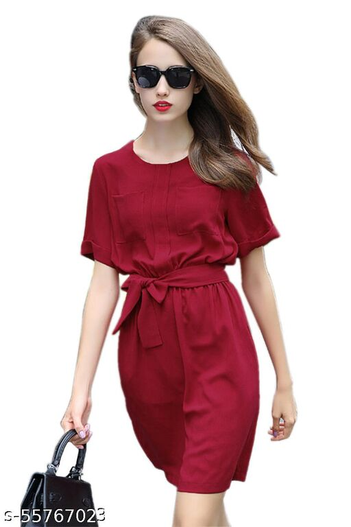 JOY MAKER Women's Fit nad Flare Fancy Western Cotton Midi Dress
