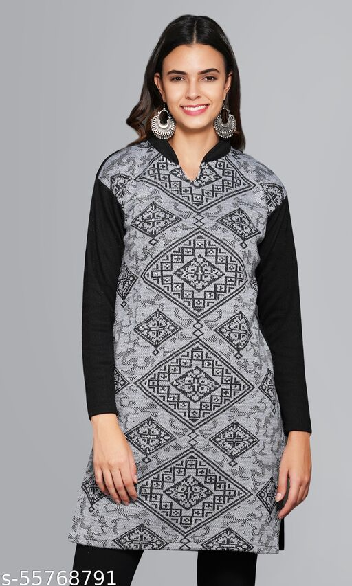 Young Threads Collection Womens Woolen Kurti
