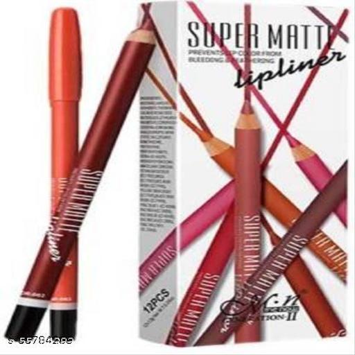 MN Generation-2 Super matte Lip liner in 12 different colors