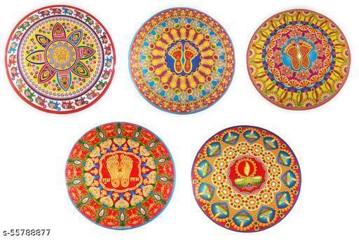 Diwali Festival 'Rangoli Pattern' Floor Sticker (PVC Vinyl, (23 inch x 23 inch) Pack of 1 (Design May Vary)