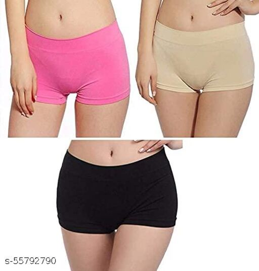 Women's Seamless Boyshort Panties for Women Shorts Panty high Waist Shorts Women no Panty Lines- (Free Size 30-38)(Pack of 1)(Multi Colored)