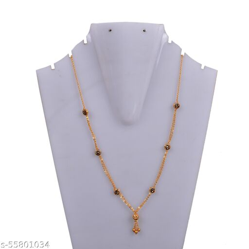 neck chain with black beads