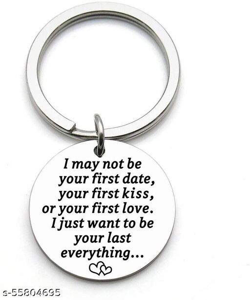 Anniversary Keychain for Wife from Husband, Birthday Wedding Valentine's Day Deployment Key Chain for Women - I Just Want To Be Your Last Everything (Women)