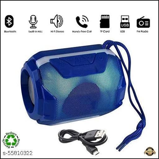 Bluetooth Speaker Portable Stereo Wireless Speaker with Mic Super Bass Splashproof Wireless Bluetooth Speaker, USB Rechargeable Portable ( BLUE)
