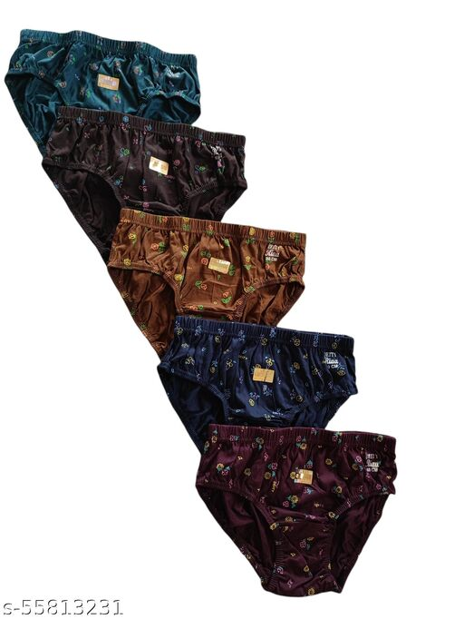 Abhira Women's Cotton Hosiery Panties Combo Pack of 5 Assorted Colours Printed Panties