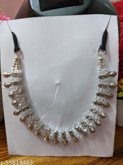 Beautiful Silver and White Necklace