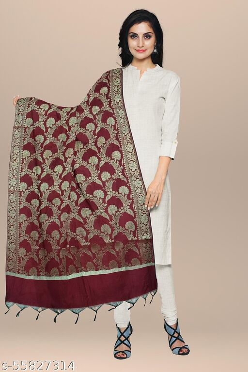 Fancy Banarasi Jequard Silk Women Dupatta