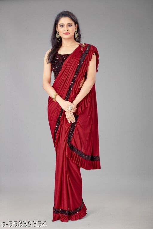 Original Important SOFT LYCRA Fabric? Ready to wear Saree