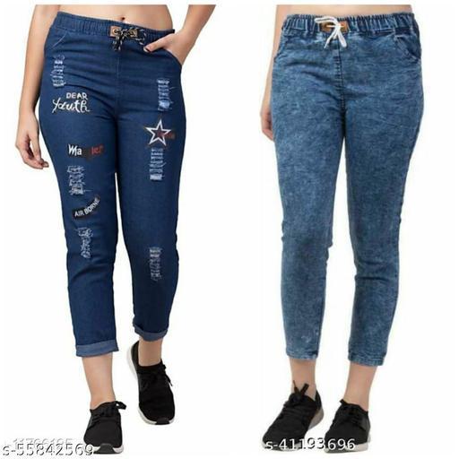 Fancy Retro Stylish Designer Women Denim Jeans/Joggers For Girls