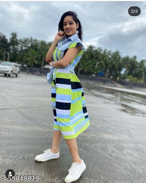 Stylish Fashionable Trendy Dress With Platted Design