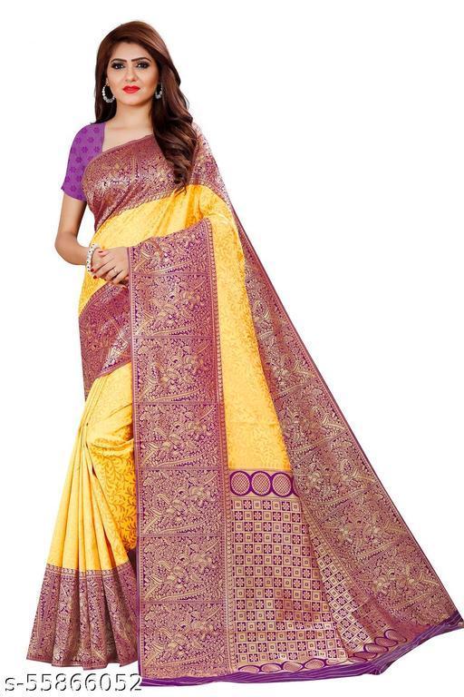 woman's kanjipuram silk saree