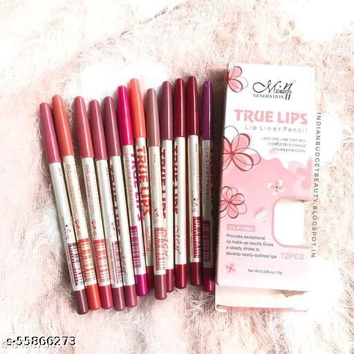 MN MeNow True Lips Set of 12 Creamy Lip Liner Pencils (Mix)