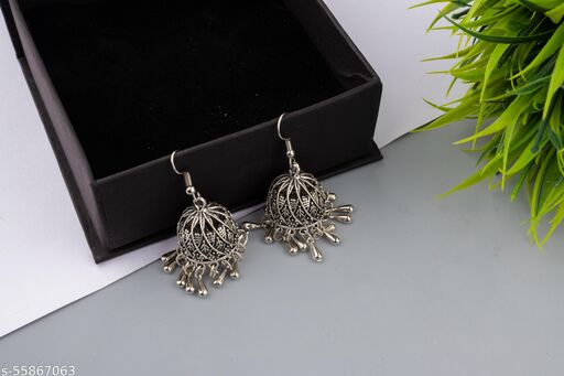 Jaipur Bling Ethnic Collection Jhumki Earrings for Women