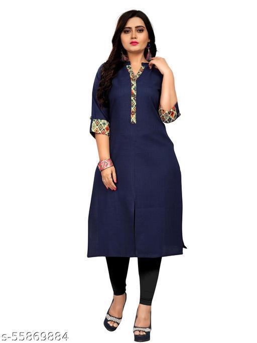 Women Printed Khadi Cotton A-line Kurta