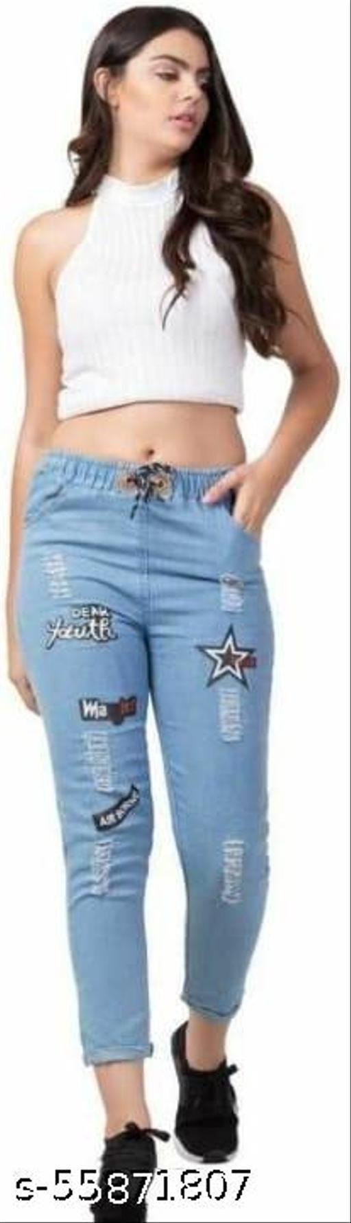 Trendy Glamorous Comfy Women Jeans Jogger