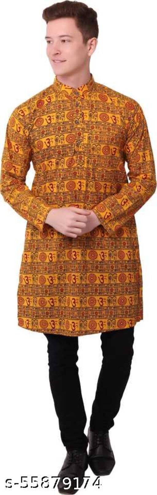 ALAKNANDA OM PRINTED LONG KURTA FOR CASUAL/PARTY/FORMAL EVENTS