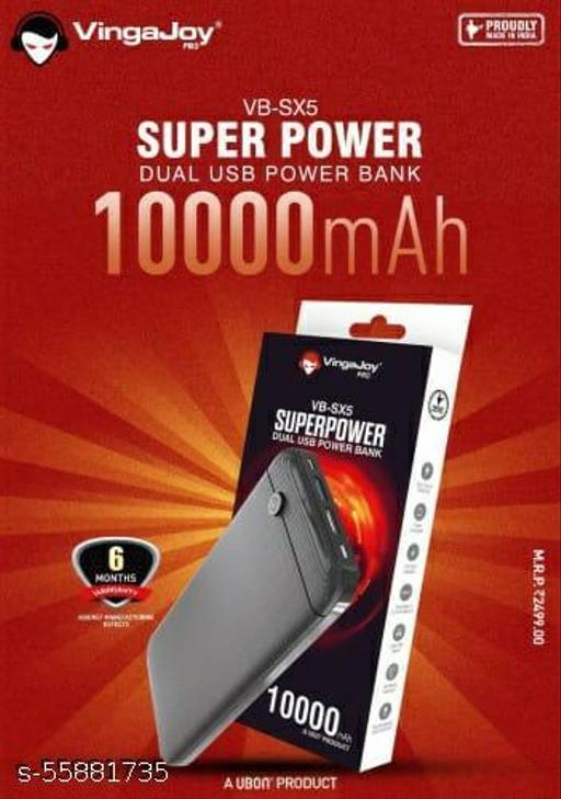 VingaJoy Dual Usb Power Bank