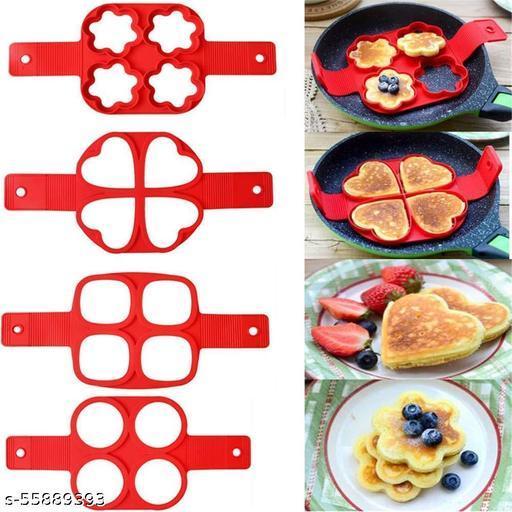 Acroshopper 1Pcs Silicone Non Stick Fantastic Egg Pancake Maker Ring Kitchen Baking Omelet Moulds flip Cooker Egg Ring Mold
