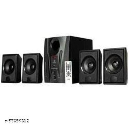 4.1 Channel Multimedia Speaker System with Bluetooth (Black)