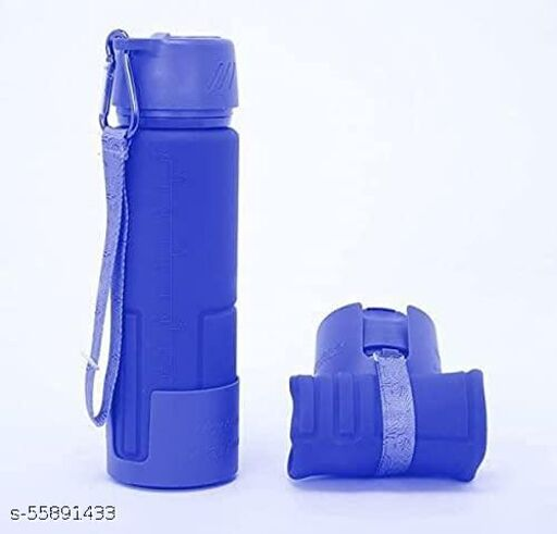 Collapsible Folding Water Bottle (Color May Vary)