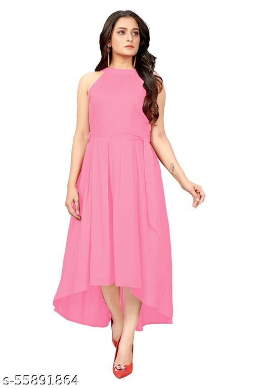 AR JOUIET MANSION Women's Fit And Flare Fancy Western Cotton Up &Down Dress