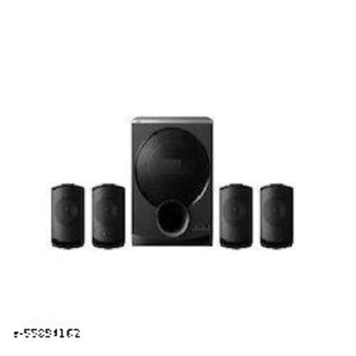 4.1 Channel Multimedia Speaker System with LED Display, 40W Subwoofer & Multi-Connectivity Options (Black)