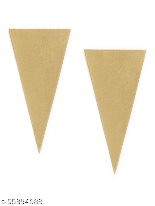 Gold-Plated Contemporary Drop Earrings