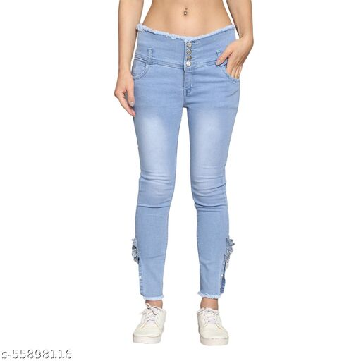 Thirsty Crow Light Blue Jeans For Women