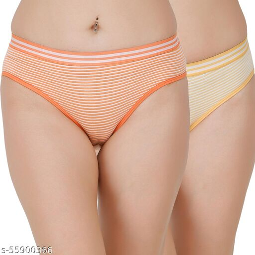 Docare Orange,Yellow Hipster Panty
