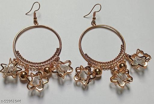 Traditional Pearl Jewellery Stylish Fancy Party Wear Earrings Pearl Copper Earring