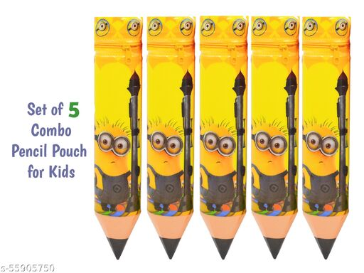Multipurpose (Stationery) Combo Five Pencil Pouch for kids