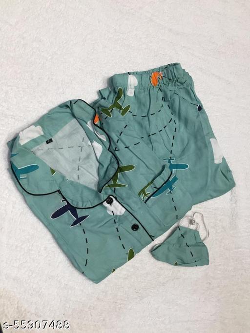 Women Printed Rayon Night Suit Nighty Half Sleeves Night Wear