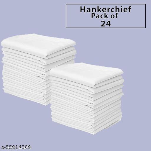 PREMIUM COTTON HANKERCHEIFS PACK of 24