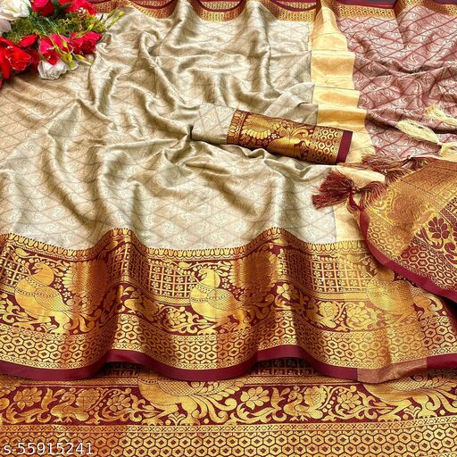 Heavy Kashmira Rich Cotton Silk With Rich Embossed Look Sarees