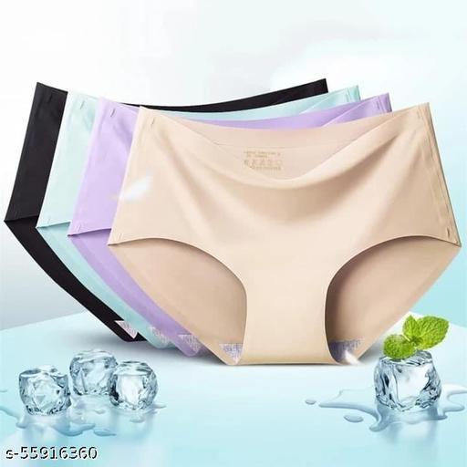 Panchhi Store Women High Waist Nylon/Spandex Seamless Brief Underwear