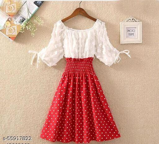 Womaniyaweb Res & white dress