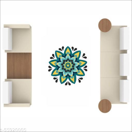 Diwali Special - Decorative Multicolored Rangoli Floor Sticker - Size 38 Cm X 38 Cm