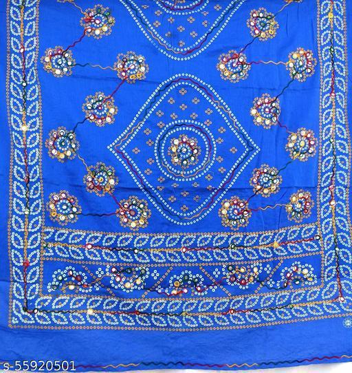 Bluecolour embroidery mirroework  duptta