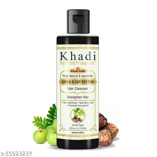 Khadi byPureNaturals Amla Sat Reetha Shampoo For Danruff Free & Long Hair 210ml