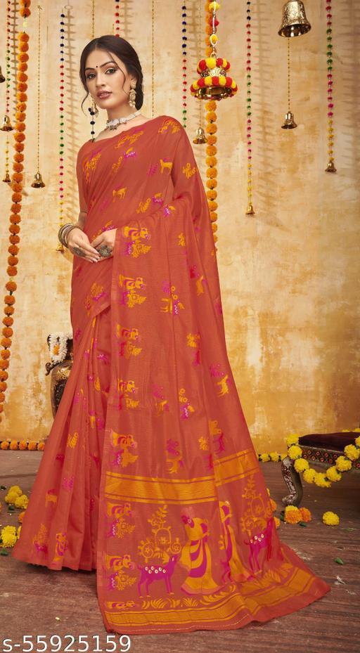 VALLABHI PRINTS Cotton Black Printed Party Wear Saree - SWKLSK25361