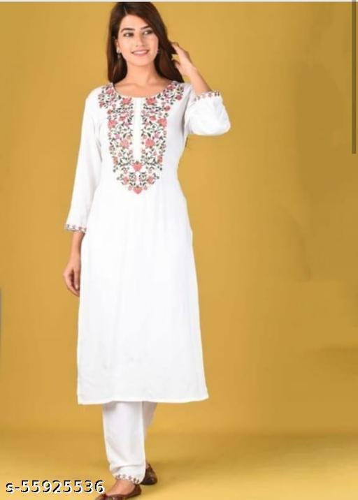 white kurta set
