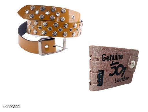 Belts Attractive Men's Belt & Wallet Combo  *Material* Belt - PU Leather,  Wallet - PU Leather  *Pattern* Solid  *Color* Multicolor  *Multipack* 1  *Sizes* Belt  -  *30 (Waist Size* 30 in)  *32 (Waist Size* 32 in)  *34 (Waist Size* 34 in)  *36 (Waist Size* 36 in) , Wallet - Free Size  *Description* It Has 1  Piece Of Belt & 1 Piece Of Wallet  *Sizes Available* 30, 32, 34, 36, 38, 40 *    Catalog Name:  Attractive Men's Belt & Wallet Combo CatalogID_836871 C65-SC1222 Code: 372-5592633-
