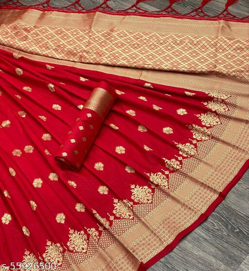Pure Katan Zari Weaving Silk Saree