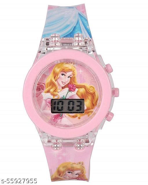 zebaya Glowing Digital Watch for Kids (Time Princess) Multicolored - Pack of 1 Pcs