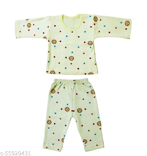 Neeba Full Sleeves Printed Thermal/Winter Wear/Warmer/Upper and Lower For Kids (Boys and Girls), (Unisex), (Pack of 1)