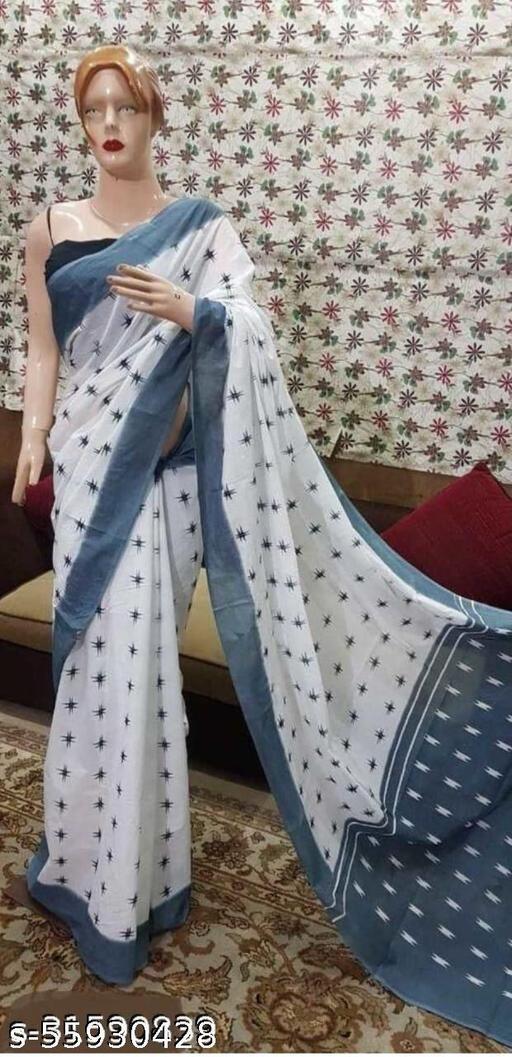 Beutifull Cotton Mulmul Saari For Woman Fashion & Trend