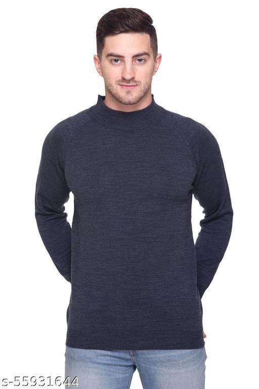 aarbee Turtle Neck Full Sleeve Woollen Sweater for Men