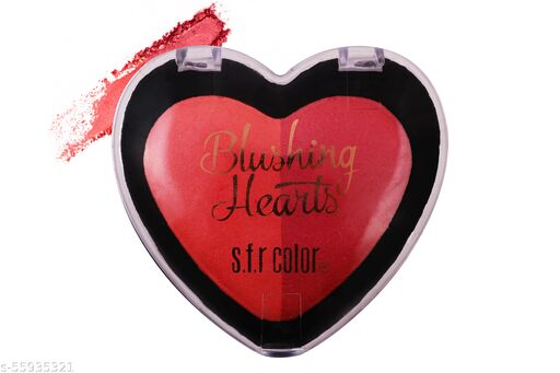 New Heart Shape 2in1 Blusher For All Skin Color Type