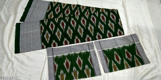 pochampally ikkat  6/6 cotton bedsheet with two pillows