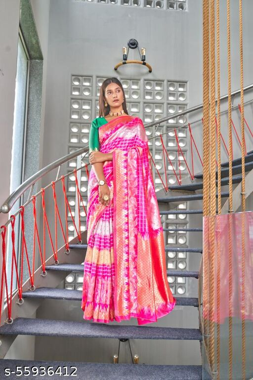Yadu Nandan Present Art Silk Saree With Jacquard Blouse